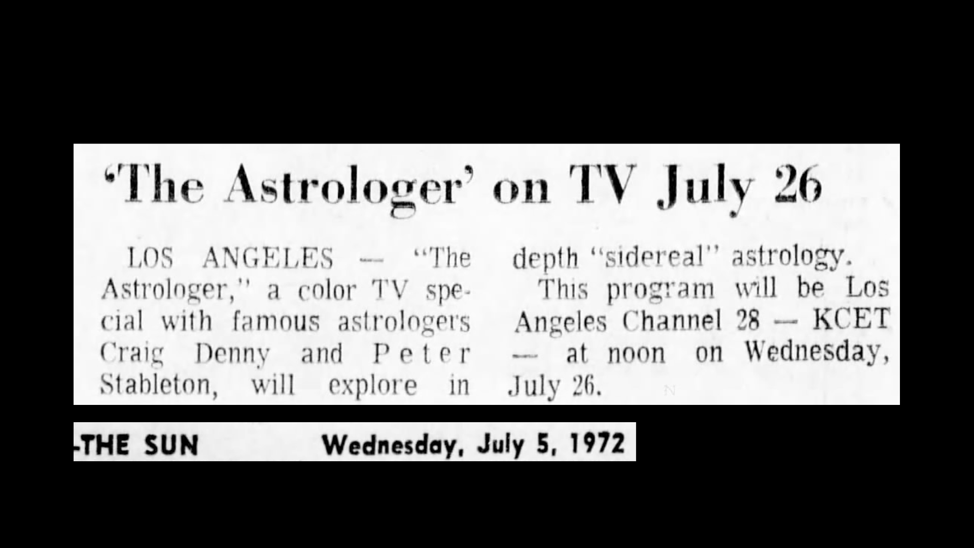 Who is The Astrologer? – Matchbox Cineclub