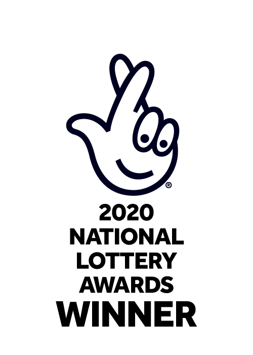 "National Lottery logo, with text: ""2020 National Lottery Awards Winner"""